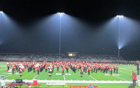 Junior and High School band performing