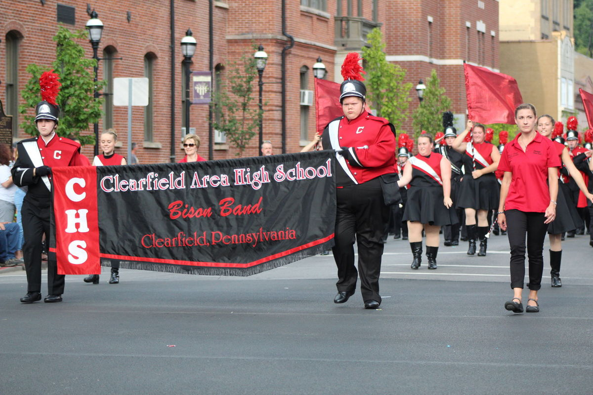 A file photo of the Bison Marching Band from The Progress newspaper.