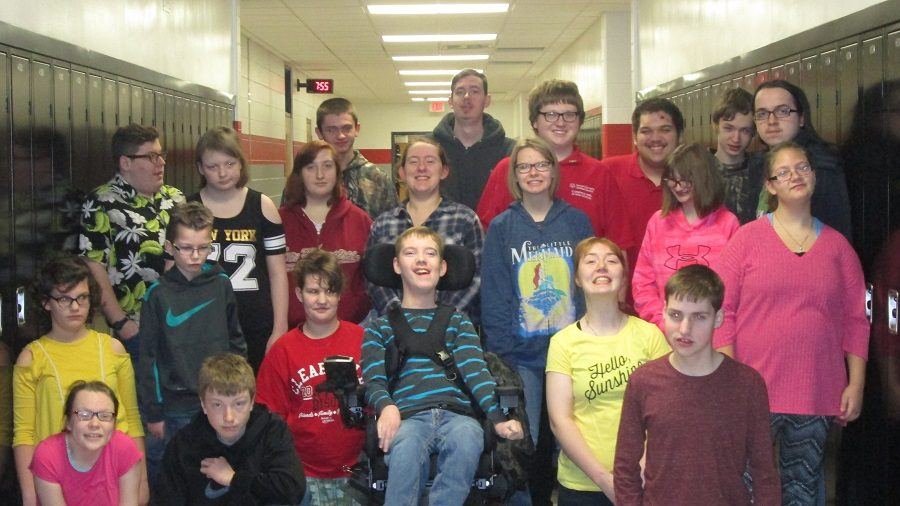 The Clearfield Area Junior-Senior High School students who make the clothing drive possible.