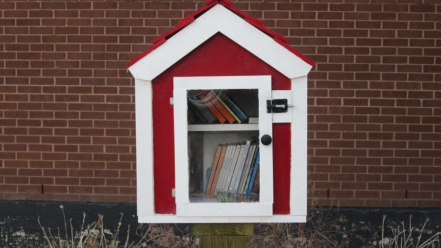 The Little Library outside the lobby.