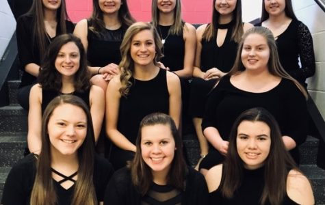 Kate Lansberry, shown second from left in the top row, earned the most votes in the Clearfield high school Queen of Hearts competition