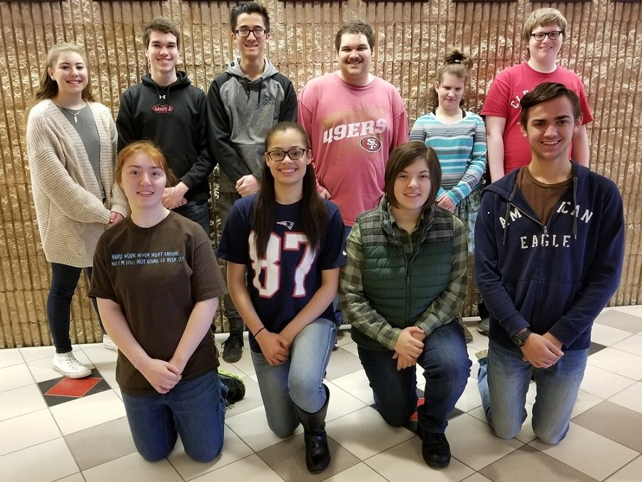 CAJSHS Bocce Team Top Row: Lily Rosinsky, Luke Witherite, Pratan Steiner, Tyrone White, Vanessa Feather and Tyler O'Shea.   Bottom Row: Shaylee Sharp, Chasity Weber, Kirstin Norman, and Tyler Bender Missing when picture was taken, Deanna Fackler  https://www.clearfield.org/article/38439