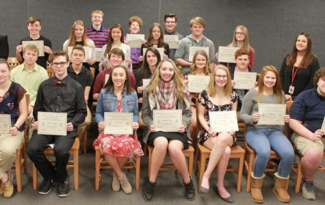 New inductees into the Spanish Honor Society.