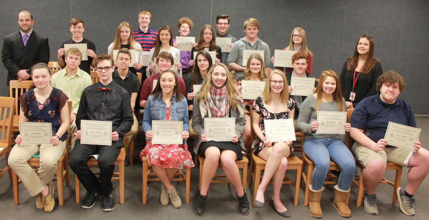 Spanish Honor Society Inducts New Members The Stampede
