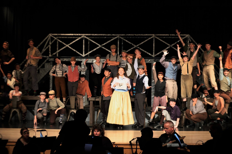 The+cast+of+Newsies.+Photo+taken+by+Jessica+McDanel