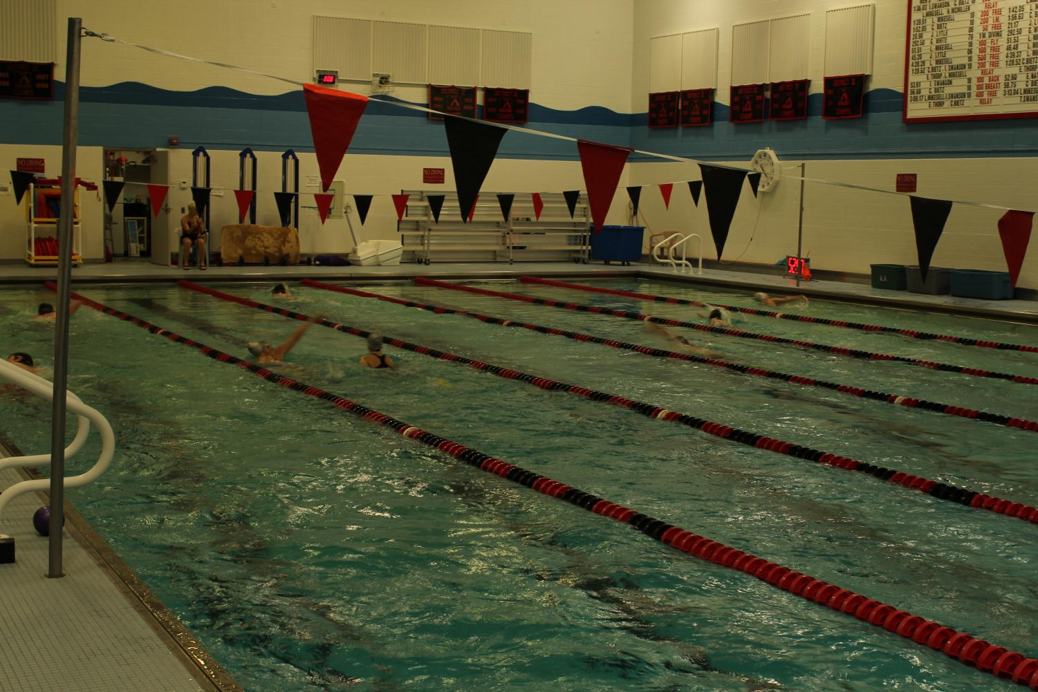 The pool at Clearfield Junior-Senior High School.