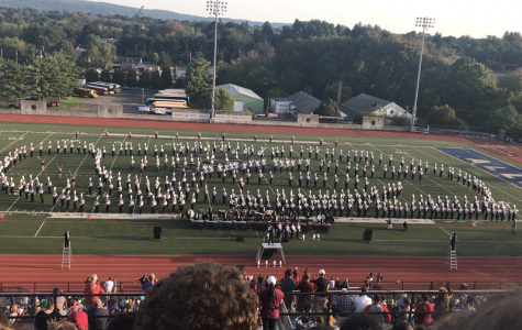 Clearfield Area Junior Senior high school band members go to the collegiate band show