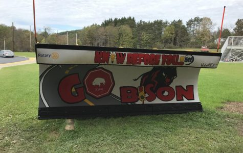 Clearfield Area Junior- Senior High School painted plow.