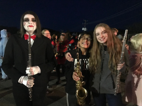 Clearfield band attends the Halloween parade