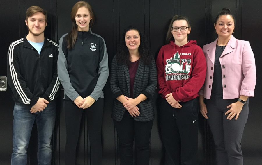 Key Club officers and advisors. From left to right, Thad Butler, Karly Rumsky, Mrs. Borden, Mclain Alt, and Mrs. Fye. Missing from the picture is Alayna Ryan.