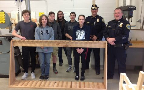 Mr. Pistner's Class Builds Gun Rack for Lawrence Township Police Department