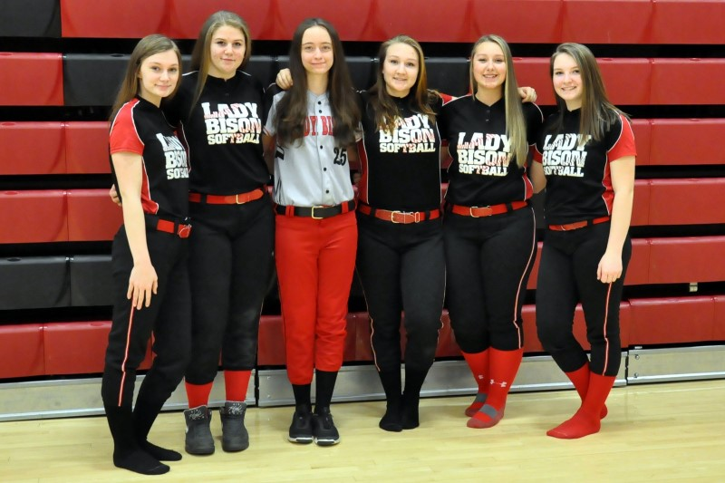 Players photographed (left to right)  Alyssa Twigg, Tesa Miller, Kyra Mollura, Rileigh Lonjin, Casey English, and Lauren Coleman (http://www.ladybisonsports.org/lbsSballUC.html)