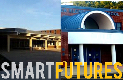 Photo created with images sourced from gantdaily.com, the Clearfield Area JS/HS Facebook page, and smartfutures.org