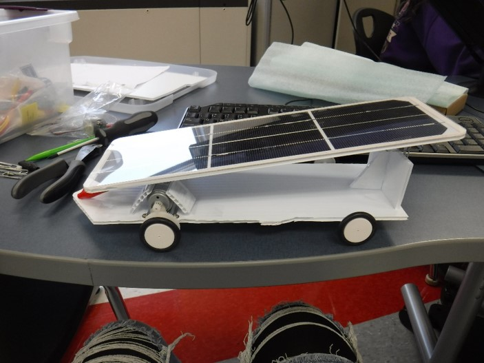 We+built+a+solar+car.++-Abbie+Moore+and+Cameron+Luzier%0A