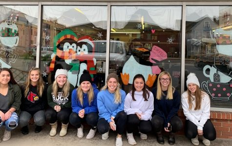 Clearfield's art students paint downtown business windows