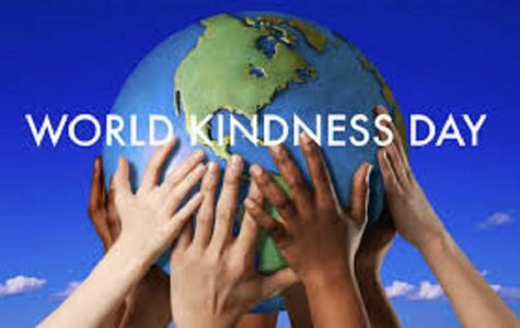 Key Club encourages the school to participate in World Kindness Day.