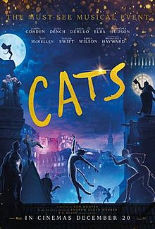 Source: Wikipedia Cats 2019 Movie Poster