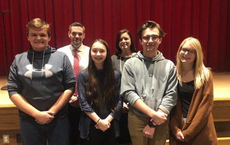 Austin McDanel, Mr. Yingling, Elise DuFour, Mrs. Warlow, Cruz Wright, and Kimberly Wilsoncroft.