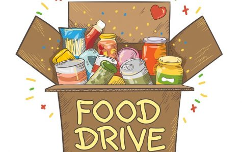 Several boxes of canned goods were successfully donated from this food drive