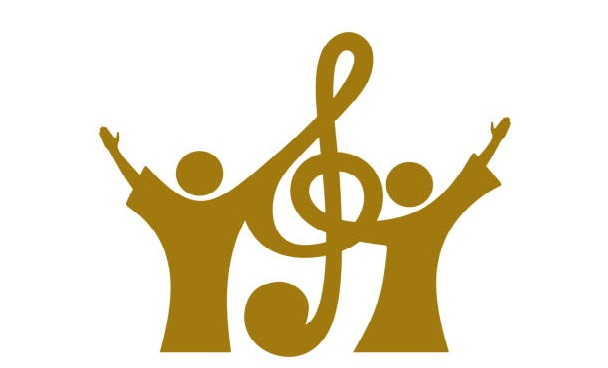 Music+logo.+Christian+symbols.+Believers+in+Jesus+sing+a+song+of+glorification+to+the+Lord