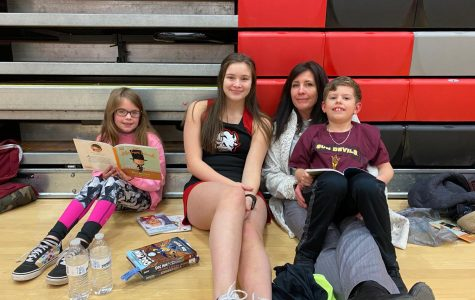 Cheerleader Elizabeth Ryan with some of the other kids that attended.