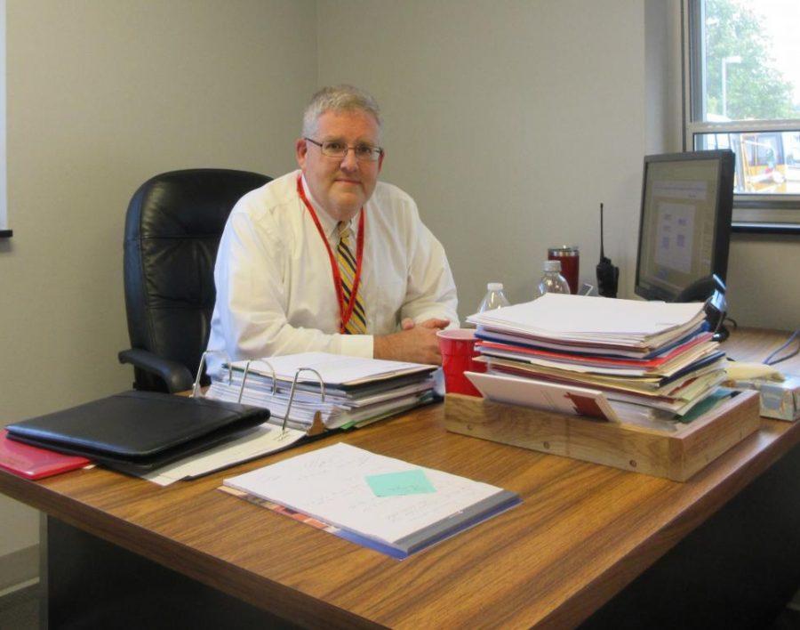 Mr. Struble at his desk
