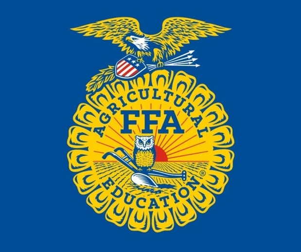 Source: https://www.rfdtv.com/story/42587344/the-five-symbols-of-the-ffa-emblem