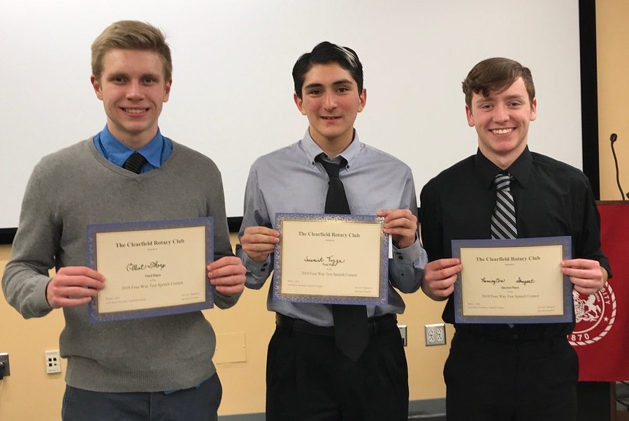 Vezza Takes First in Rotary Speech Contest