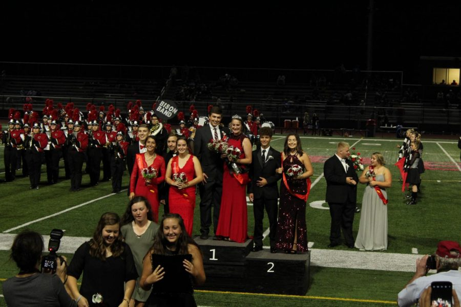 The homecoming queen and her court.