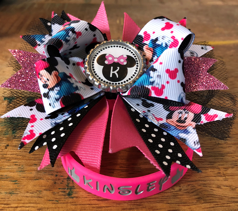 Bows and bracelets were made in memory of Kinsley.