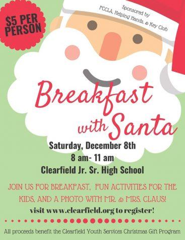 Breakfast with Santa coming Dec. 8
