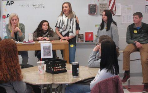 Alumni share college experiences with seniors