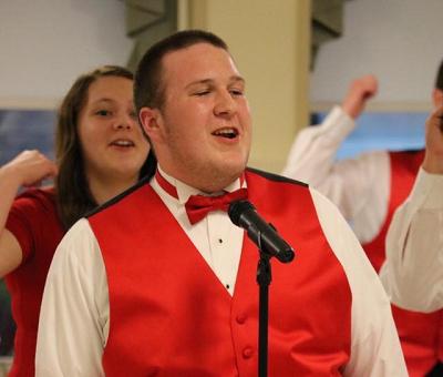 Jace Kephart singing in show  choir.