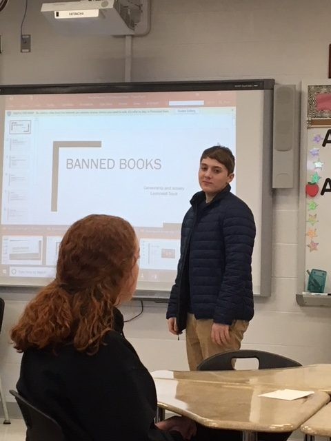 Launcy+Soult+presenting+his+topic+about+Banned+Books