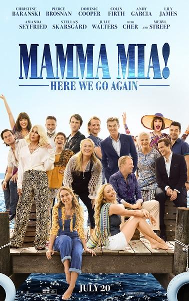 The Mamma Mia! Here We Go Again poster.