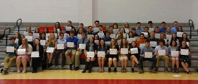 Group picture of the students inducted this year.