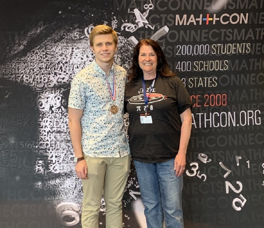 Elliot Thorp and Mrs. Bookhamer at MathCon in Chicago, Illinois.