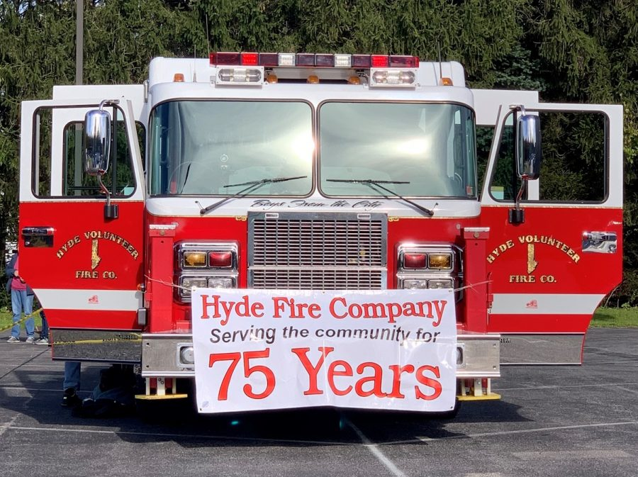Hyde Fire Company's fire truck.