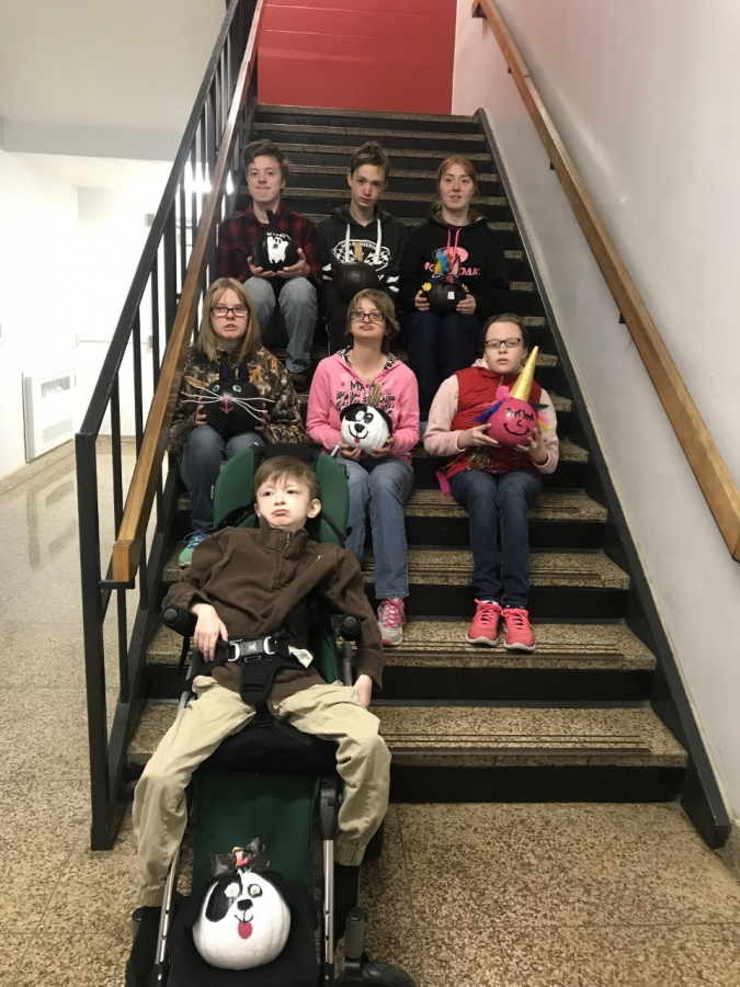 Listing students from top to bottom, left to right. Top row: Robert Heichel, Isaiah Maines and Shaylee Sharp. Middle row: Kirsten English, Lauren Malloy and Katherine Turner. Bottom row: Logan Lupton.