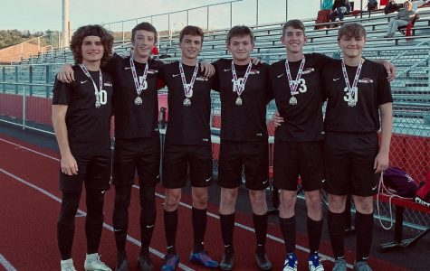 The boys' soccer team has their senior night