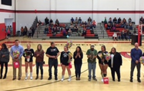 Lady Bison Volleyball recognizes seniors