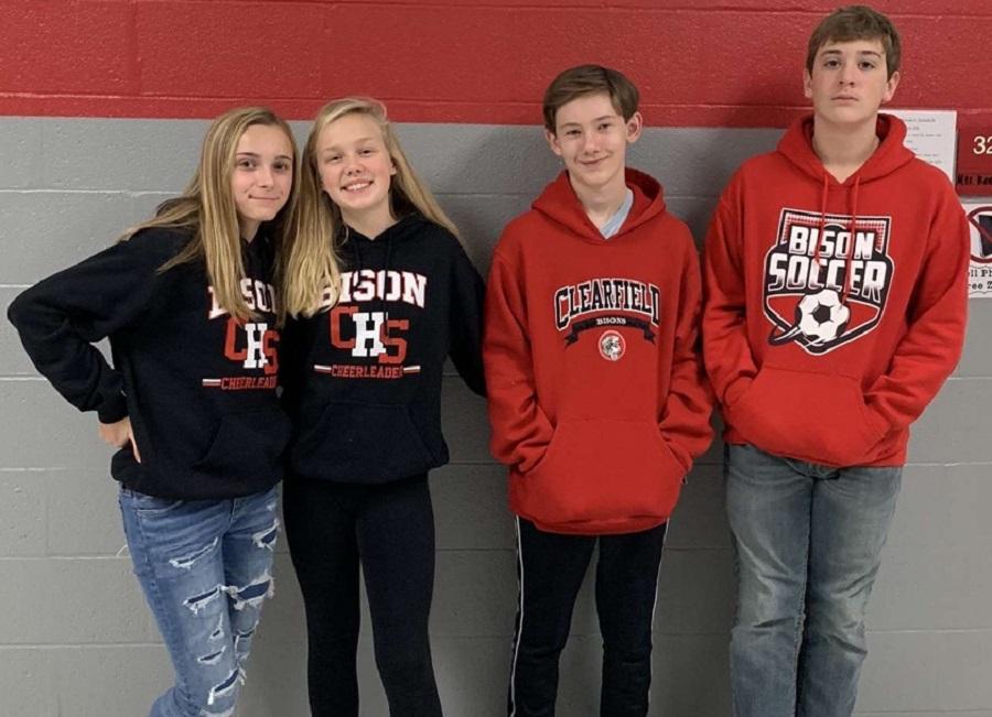 Students participate in Bison Spirit Day.