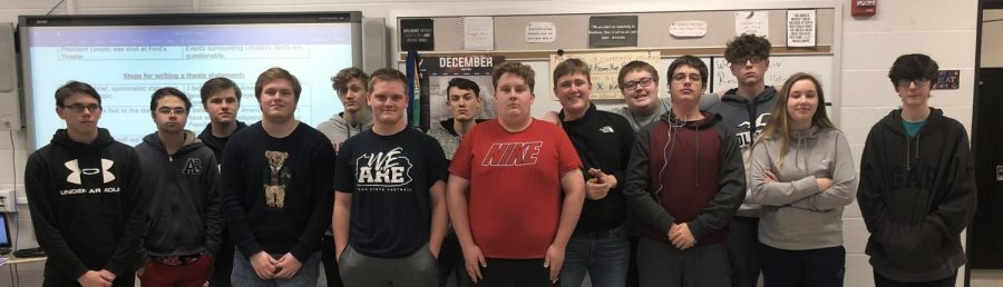 Students in the National History Day Club.