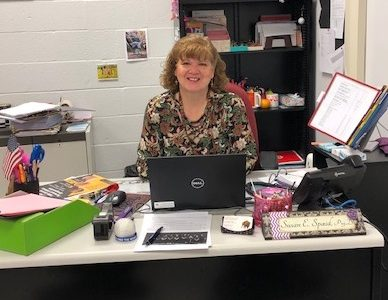 Dr. Spaid in her new office.