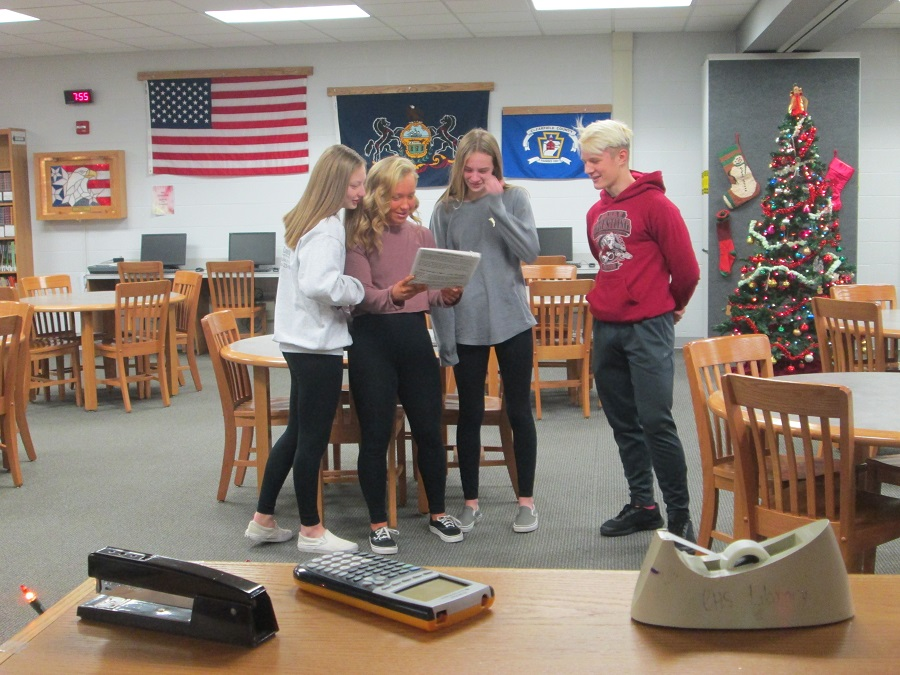 A group of students from Mrs. Stibitz's first period participates.