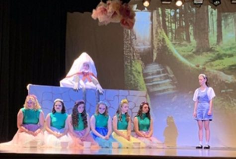 Members of the Drama Club presented Alice in Wonderland.