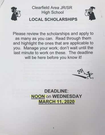 2020 Scholarship packet