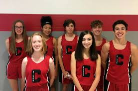 Pictured is the returning letter winners for the 2020 season. Front from left to right are Abby McCracken, Amanda McCracken, and Tyler Olson. Back from left to right are Scarlett Singleton, Alycia Edwards, Ben Luzier, and Michael Odrosky
