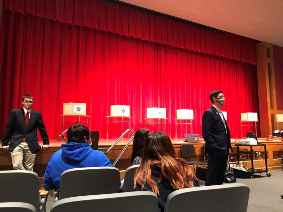 Mr. Tubbs gives a speech on the importance of voting after ballots are submitted.