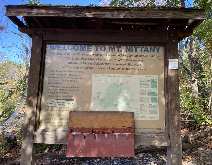 Mount Nittany hiking trails open to public